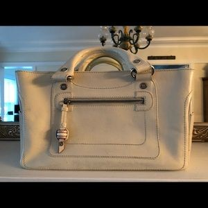 Celine vintage Boogie satchel white leather